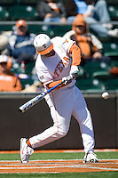 Texas Longhorn OF Kevin Keyes against Nebraska on Sunday March 21st, 2100 at UFCU Dish-Falk Field in Austin, Texas.  (Photo by Andrew Woolley / Four Seam Images)