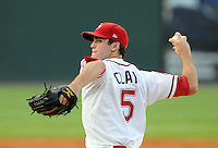 August 13, 2009: RHP Caleb Clay (5) of the Greenville Drive, Class A affiliate of the Boston Red Sox, in a game against the Greensboro Grasshoppers at Fluor Field at the West End in Greenville, S.C. Photo by: Tom Priddy/Four Seam Images