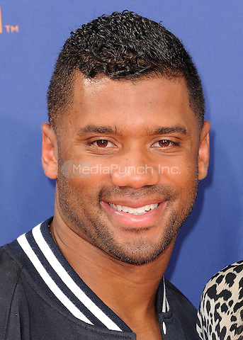 LOS ANGELES, CA - JULY 16:  Russell Wilson at the Nickelodeon Kids Choice Sports 2015 at the Pauley Pavilion on July 16, 2015 in Los Angeles, California. Credit: PGSK/MediaPunch
