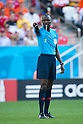 Bakary Gassama (Referee), JUNE 23, 2014 - Football / Soccer : FIFA World Cup Brazil 2014 Group B match between Netherlands 2-0 Chile at Arena de Sao Paulo Stadium in Sao Paulo, Brazil. (Photo by Maurizio Borsari/AFLO)
