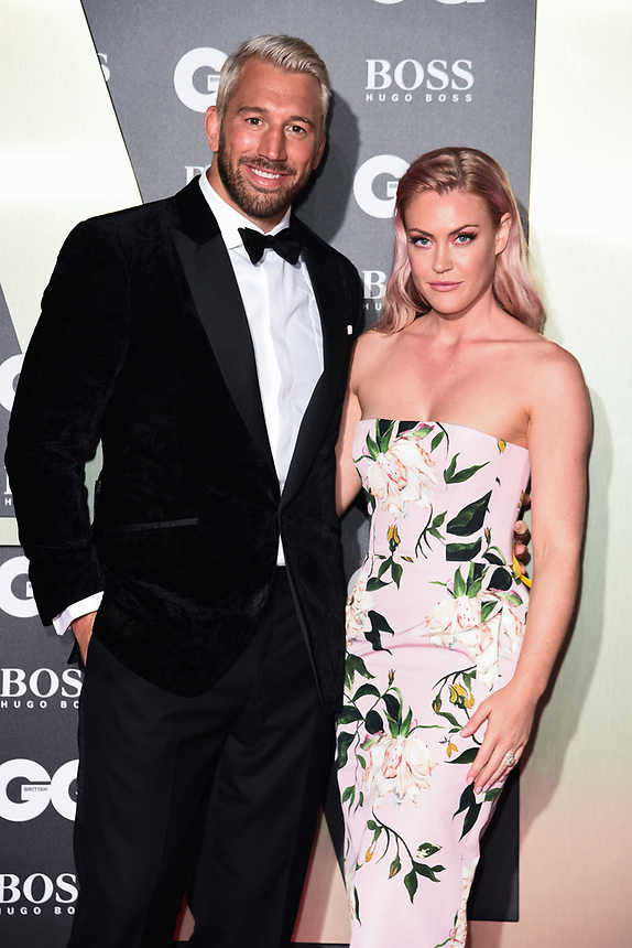 Chris Robshaw and Camilla Kerslake<br /> arriving for the GQ Men of the Year Awards 2019 in association with Hugo Boss at the Tate Modern, London<br /> <br /> ©Ash Knotek  D3518 03/09/2019