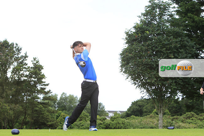 Niall Hearns (Mountrath) on the 15th tee during R2 of the 2016 Connacht U18 Boys Open, played at Galway Golf Club, Galway, Galway, Ireland. 06/07/2016. <br /> Picture: Thos Caffrey | Golffile<br /> <br /> All photos usage must carry mandatory copyright credit   (&copy; Golffile | Thos Caffrey)