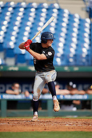 Jackson Jobe (2) of Heritage Hall High School in Oklahoma City, OK during the Perfect Game National Showcase at Hoover Metropolitan Stadium on June 18, 2020 in Hoover, Alabama. (Mike Janes/Four Seam Images)