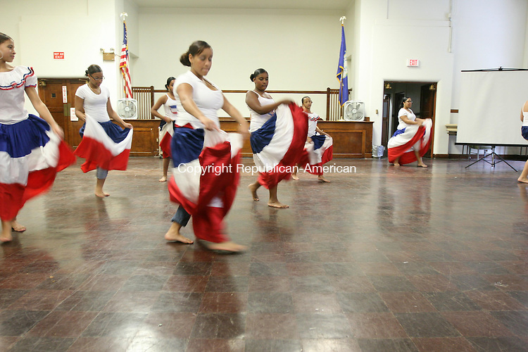 TORRINGTON, CT - 27 September, 2008 - 092708MO02 - Youth Opportunities performs Saturday in Torrington City Hall. Founder Maria Gonzalez said the group includes middle and high school students, and celebrates Dominican culture and heritage.  Jim Moore Republican-American.