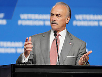 Former NFL player and Vietnam veteran Rocky Bleier speaks at the Veterans of Foreign Wars national convention, Tuesday, Aug. 30, 2011, in San Antonio. (Darren Abate/pressphotointl.com)