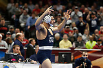 CLEVELAND, OH - MARCH 16: Vincenzo Joseph, of Penn State reacts after winning his match in the 165 weight class during the Division I Men's Wrestling Championship held at Quicken Loans Arena on March 16, 2018 in Cleveland, Ohio. (Photo by Jay LaPrete/NCAA Photos via Getty Images)