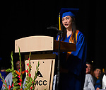Regents' Scholar Award winner Kimberly Tran speaks during the TMCC Graduation held at Lawlor Events Center in Reno, Nevada on Friday, May 11, 2018.