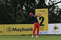 Marcel Siem (GER) in action on the 2nd during Round 1 of the Maybank Championship at the Saujana Golf and Country Club in Kuala Lumpur on Thursday 1st February 2018.<br /> Picture:  Thos Caffrey / www.golffile.ie<br /> <br /> All photo usage must carry mandatory copyright credit (© Golffile | Thos Caffrey)
