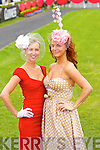 Siobhan Walsh and Pricilla Cronin from Newcastlewest at the Anthony Ryan Galway Races Ladies Day on Thursday.