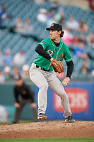 Norfolk Tides relief pitcher Zach Muckenhirn (52) during an International League game against the Buffalo Bisons on June 22, 2019 at Sahlen Field in Buffalo, New York.  Buffalo defeated Norfolk 3-0.  (Mike Janes/Four Seam Images)