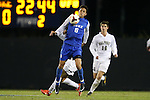 25 October 2013: Duke's Sean Davis (6). The Duke University Blue Devils hosted the Wake Forest University Demon Deacons at Koskinen Stadium in Durham, NC in a 2013 NCAA Division I Men's Soccer match. The game ended in a 2-2 tie after two overtimes.