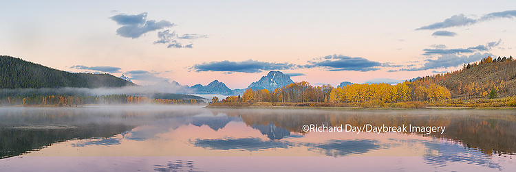 67545-08814 Sunrise at Oxbow Bend in fall, Grand Teton National Park, WY