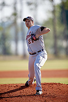 Detroit Tigers pitcher Alex Faedo (21) delivers a pitch during a Minor League Spring Training intrasquad game on March 24, 2018 at the TigerTown Complex in Lakeland, Florida.  (Mike Janes/Four Seam Images)