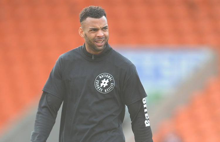 Blackpool's Curtis Tilt during the pre-match warm-up <br /> <br /> Photographer Kevin Barnes/CameraSport<br /> <br /> The EFL Sky Bet League One - Blackpool v Walsall - Saturday 9th February 2019 - Bloomfield Road - Blackpool<br /> <br /> World Copyright © 2019 CameraSport. All rights reserved. 43 Linden Ave. Countesthorpe. Leicester. England. LE8 5PG - Tel: +44 (0) 116 277 4147 - admin@camerasport.com - www.camerasport.com