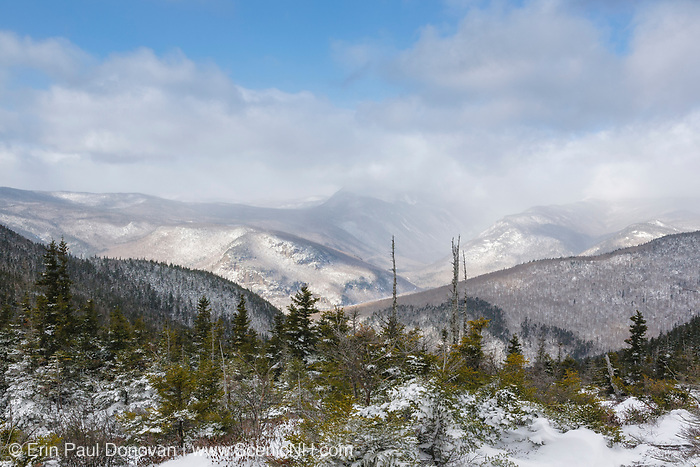 Blowing snow from the summit of Mount Crawford in Hadley's Purchase, New Hampshire USA.