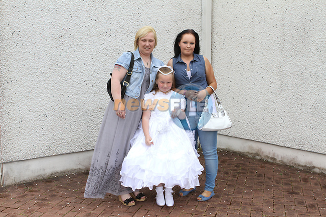 Jessica McLoughlin at Donacarney NS Communion in The Star of the Sea Church...(Photo Jenny Matthews/www.newsfile.ie)