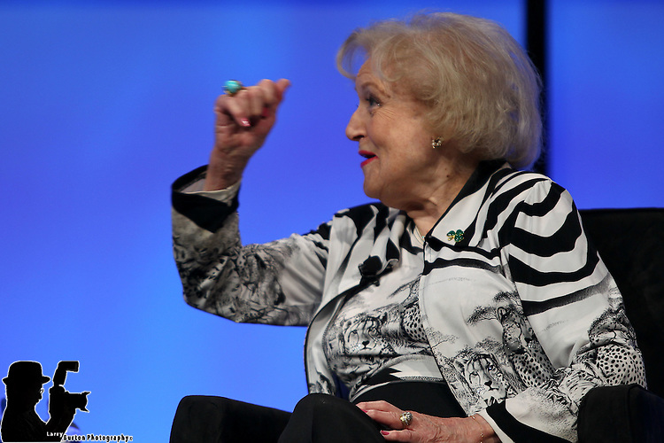 NAB 04-17-12 NAB Breadkfast with Betty White to induct her into the NAB Hall of Fame followed by <br /> 2012 Election: Party Platforms to Media Platforms<br /> As reflected by political spending, media buyers tout that broadcasting is the major vehicle for generating awareness of political candidates and their issues moderated by Terry Moran Co-Anchor