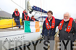 The crew of the Avocet at the start of their round the world trip which will take approximately 16 months, pictured here front l-r; Donnacha Desmond(1st Mate), Derry Ryder(Skipper), back l-r; Margaret Ryder, Cian Deasy, Brian O'Grady & John O'Shea.