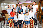 Mikey O'Grady from Kells seated front centre celebrated his 21st birthday with family and friends in the Ring of Kerry Hotel on Saturday night.