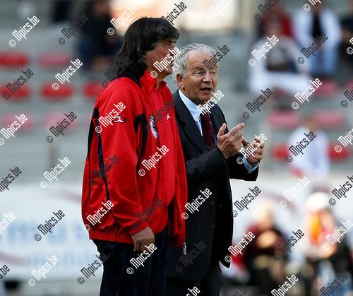 2008-09-14 / Voetbal / Antwerp FC - Sint-Truiden / Svilar en Dimitri Davidovic..Foto: Maarten Straetemans (SMB)