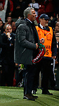 Jose Mourinho manager of Manchester United celebrates during the Europa League Semi Final 2nd Leg match at Old Trafford Stadium, Manchester. Picture date: May 11th 2017. Pic credit should read: Simon Bellis/Sportimage