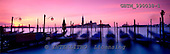 Tom Mackie, LANDSCAPES, panoramic, photos, Gondolas at Sunrise, Venice, Italy, GBTM990038-1,#L#