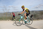 Lennard Hofstede (NED) Team Jumbo-Visma on sector 8 Monte Santa Maria during Strade Bianche 2019 running 184km from Siena to Siena, held over the white gravel roads of Tuscany, Italy. 9th March 2019.<br /> Picture: Eoin Clarke | Cyclefile<br /> <br /> <br /> All photos usage must carry mandatory copyright credit (&copy; Cyclefile | Eoin Clarke)