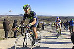 Alejandro Valverde (ESP) Movistar Team climbs Sector 7 Monte Sante Maria of gravel during the 2015 Strade Bianche Eroica Pro cycle race 200km over the white gravel roads from San Gimignano to Siena, Tuscany, Italy. 7th March 2015<br /> Photo: Eoin Clarke/www.newsfile.ie