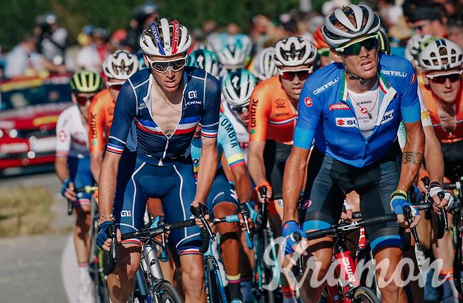 Romain Bardet (FRA/AG2R-LaMondiale)<br /> <br /> MEN ELITE ROAD RACE<br /> Kufstein to Innsbruck: 258.5 km<br /> <br /> UCI 2018 Road World Championships<br /> Innsbruck - Tirol / Austria