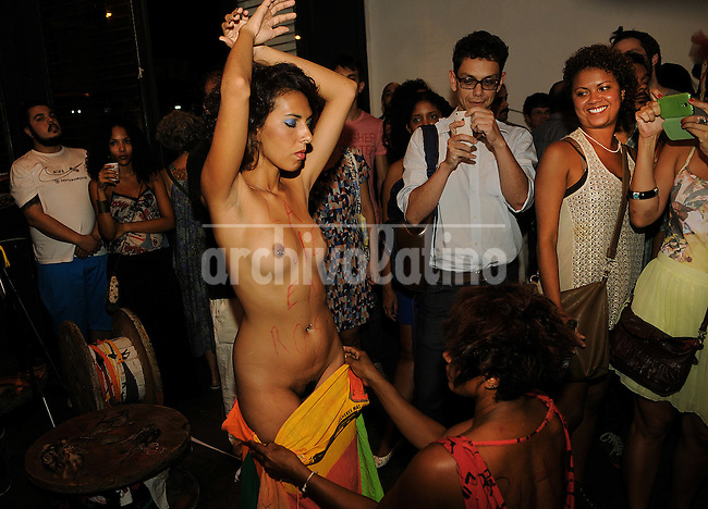 The parade of  sexy outfits and clothes organized by prostitues NGO  Daspu (for Brazilian Das Putas), an organization created and run by prostitues of Rio de Janeiro, March 19, 2014. Daspu, aimed to deffend the rights and safety of the prostitues,  created their own brand of clothes and make promotions and advertesing in many ways, as this annual parade. This year the parade was in the memory of  sociologist and prostitute Gabriela Leyte, dead in 2013.