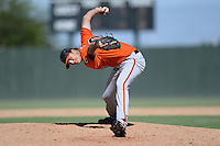 San Francisco Giants pitcher Tyler Rogers (80) during an instructional league game against the Oakland Athletics on September 27, 2013 at Papago Park Baseball Complex in Phoenix, Arizona.  (Mike Janes/Four Seam Images)