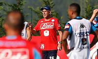 Maurizio Sarri  <br /> ritiro precampionato Napoli Calcio a  Dimaro 11 Luglio 2015<br /> <br /> Preseason summer training of Italy soccer team  SSC Napoli  in Dimaro Italy July 11, 2015