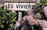 Europe/France/Bretagne/29/Finistère/Le Diben: Panneau indiquant les viviers à homards de Bretagne