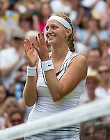 London, Wimbledon Tennis Day 12 02/07/2011..Petra Kvitova - Semi-Finals Gentlemen's singles..Photo: Frey Fotosports International /AMN.