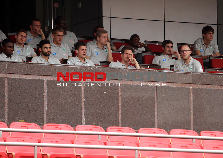 06.07.2014, Workers Stadion, Pekin, Werder Bremen China Tour 2014 - TIANJIN Training, im Bild<br /> <br /> <br /> Team of Werder Bremen watched a training game between Beijing Guoan FC and Shijiazhuang Yongchang FC at the Worker's Stadium during their last day of China Tour.<br /> <br /> <br /> <br /> Foto &copy; nordphoto