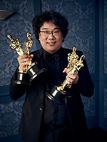 Oscar® winner Bong Joon Ho during the 92nd Oscars® on Sunday, February 9, 2020 at the Dolby Theatre® in Hollywood, CA, televised live by the ABC Television Network.<br /> *Editorial Use Only*<br /> CAP/AMPAS<br /> Supplied by Capital Pictures