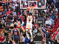 Dunking Derrick Jones Jr. (F/G Miami Heat, #05) - 22.01.2020: Miami Heat vs. Washington Wizards, American Airlines Arena