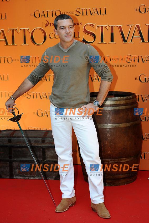 """Antonio Banderas.Photo Call """"Il Gatto con gli Stivali""""/ """"Puss in Boots"""" .25/11/2011, Roma.Photo Insidefoto Antonietta Baldassarre"""