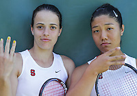 STANFORD, CA - April 9, 2011:  NIcole Gibbs and Kristie Ahn: Stanford, California on April 9, 2011.