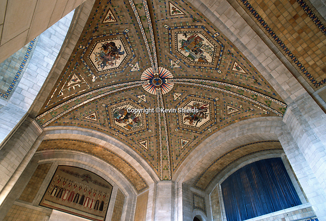 Ornate ceiling, Nebraska State Capitol, Lincoln, Nebraska, USA