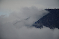clouds mountain Mount Baldy Pomona California low clouds hills sky winter mountains weather