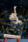 22nd March 2018, Arena Birmingham, Birmingham, England; Gymnastics World Cup, day two, womens competition; Vera van Pol (NED) on the Balance Beam during her competition routine