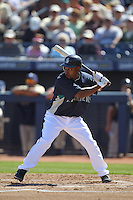 PEORIA - MARCH 5:  Chone Figgins of the Seattle Mariners bats during a spring training game against the San Diego Padres on March 5, 2010 at the Peoria Sports Complex in Peoria, Arizona. (Photo by Brad Mangin)