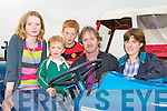 Sarah Jane, Gavin, Maurice, Martin and Tracey Foley Milltown on the tractor at the Castlemaine Vintage show on Sunday