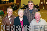 Jimmy O'Sullivan (Abbeyfeale), Ger Broderick(Mountcollins), Dan Curtin(Tournafulla) and Les Broderick(Mountcollins) enjoying the music and dance last Friday night in Mountcollins community centre for a special fundraising event for Temple Street Hospital and Our Lady's Hospital for Sick Children