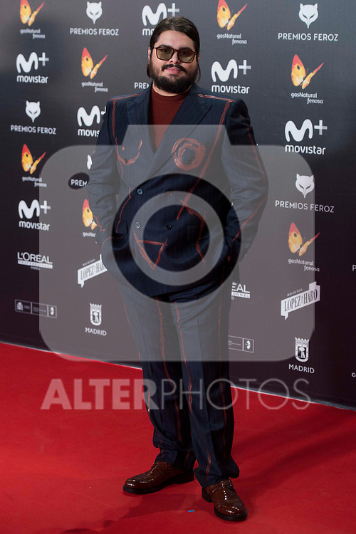 Brays Efe attends red carpet of Feroz Awards 2018 at Magarinos Complex in Madrid, Spain. January 22, 2018. (ALTERPHOTOS/Borja B.Hojas)