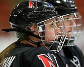 Lindsay Berman (NU - 13) - The Harvard University Crimson defeated the Northeastern University Huskies 1-0 to win the 2010 Beanpot on Tuesday, February 9, 2010, at the Bright Hockey Center in Cambridge, Massachusetts.