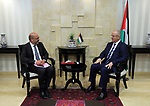 Palestinian Prime Minister Rami Hamdallah attends signing an agreement with United Nation, in the West Bank city of Ramallah on June 15, 2017. Photo by Prime Minister Office