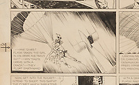 BNPS.co.uk (01202 558833)<br /> Pic:ProfilesInHistory/BNPS<br /> <br /> Original artwork for the historic first ever Flash Gordon comic has emerged for sale for £465,000. ($600,000)<br /> <br /> The inaugural strip for the sci-fi epic featuring Alex Raymond's illustrations was published on January 7, 1934, <br />  <br /> Raymond has signed the 28ins by 23ins illustration board and written 'No 1' on it to signify its importance.<br /> <br /> Eighty-six years later, the pencil and ink artwork is being sold by the widow of a life-long comic collector with US based auctioneer Profiles in History.