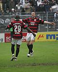 Sandhausen 19.04.2008, Torjubel vom Torsch&uuml;tzen Ali Gerba (Ingolstadt) und Steffen Wohlfarth (Ingolstadt) in der Regionalliga S&uuml;d 2007/08 SV Sandhausen 1916 - FC Ingolstadt 04<br /> <br /> Foto &copy; Rhein-Neckar-Picture *** Foto ist honorarpflichtig! *** Auf Anfrage in h&ouml;herer Qualit&auml;t/Aufl&ouml;sung. Belegexemplar erbeten.